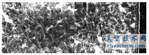 电镜扫描下观察到的阀芯40CR 钢的渗层组织