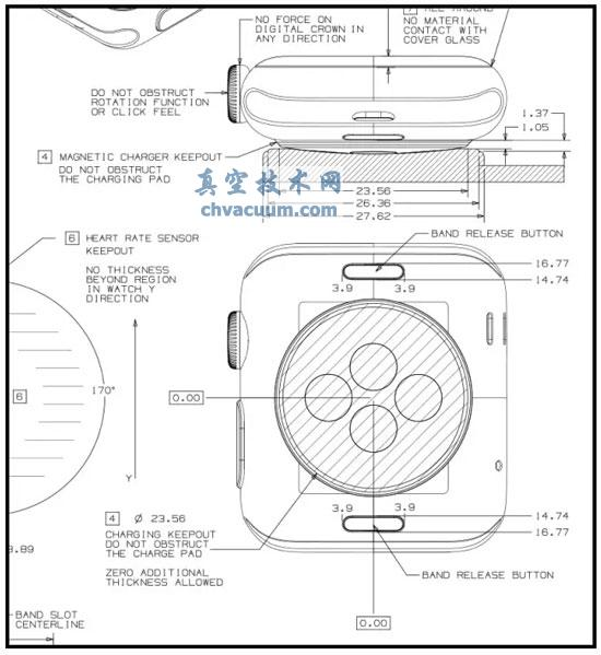 苹果手表(Apple Watch)的CAD工程图