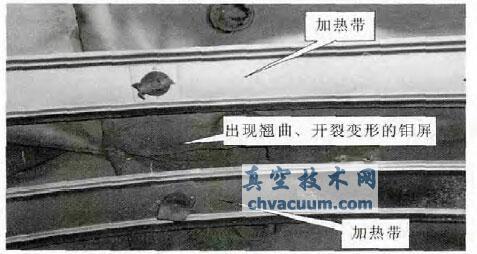 高温真空钎焊炉钼屏开裂原因分析