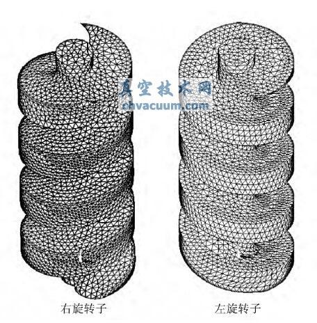 双螺杆真空泵腔内间隙的模拟计算