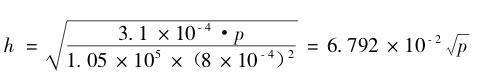 压缩式真空计的平方刻度尺画制