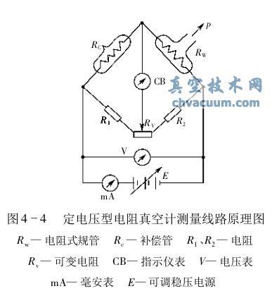定电压型电阻真空计测量线路原理图