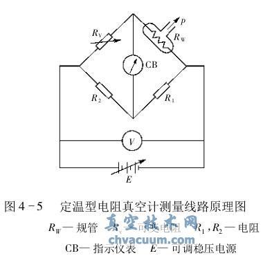 定温型电阻真空计测量线路原理图